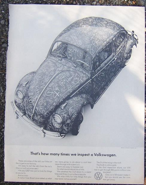 1964 VOLSWAGEN SATURDAY EVENING POST MAGAZINE ADVERTISEMENT, Advertisement