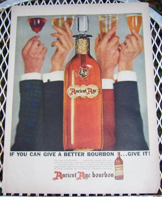 1956 ANCIENT AGE BOURBON LIFE MAGAZINE ADVERTISEMENT, Advertisement
