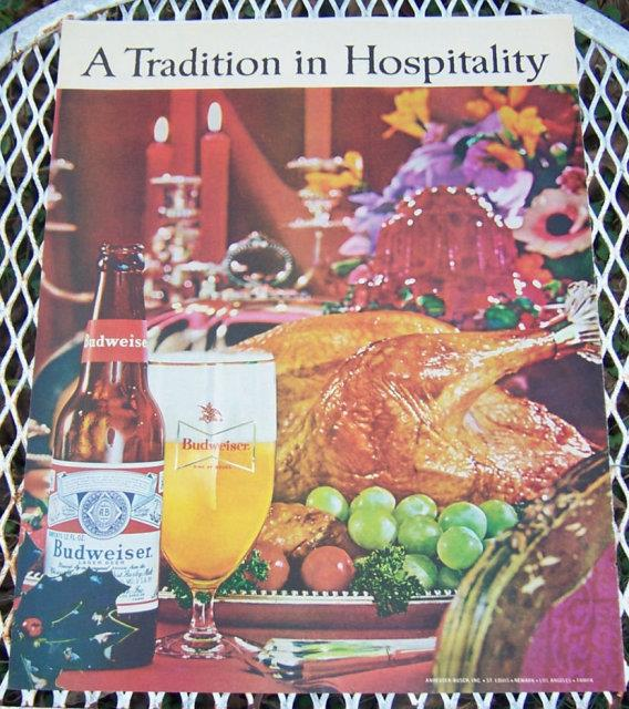 Image for 1963 BUDWEISER CHRISTMAS MAGAZINE ADVERTISEMENT