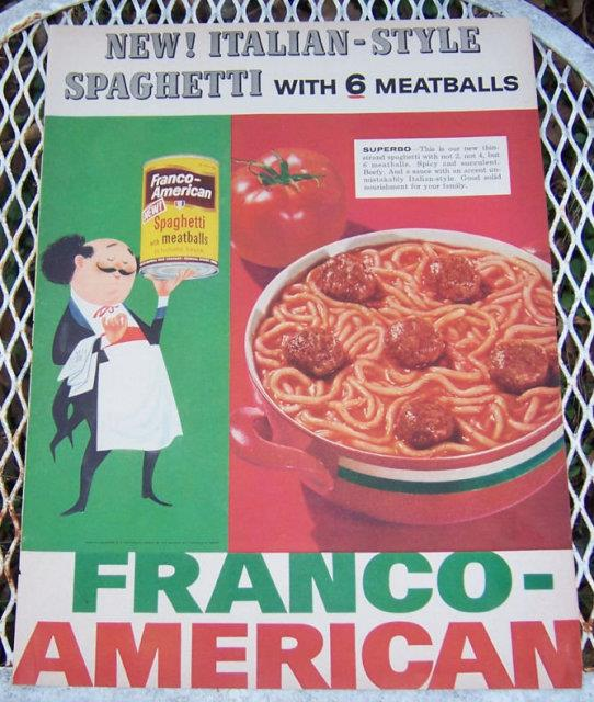 Image for 1956 FRANCO-AMERICAN SPAGHETTI LIFE MAGAZINE ADVERTISEMENT