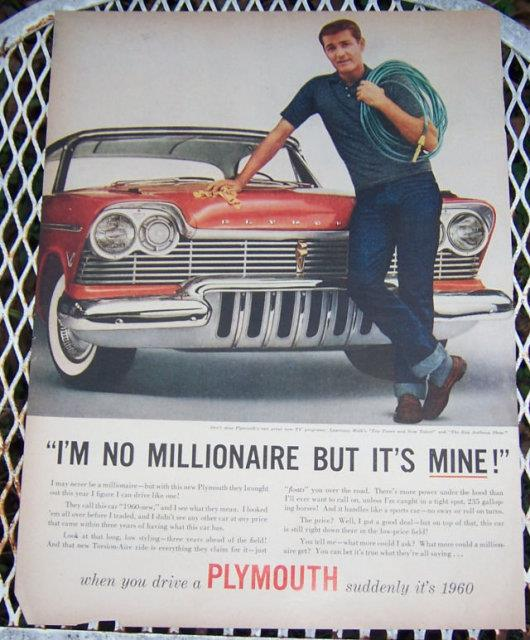 1956 PLYMOUTH LIFE MAGAZINE ADVERTISEMENT, Advertisement