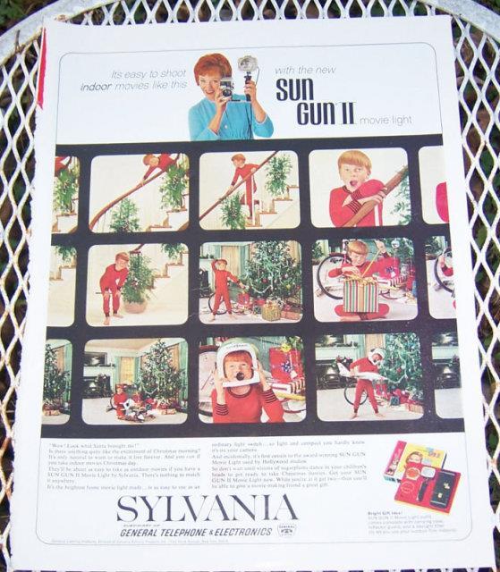 Image for 1963 SYLVANIA CHRISTMAS MAGAZINE ADVERTISEMENT