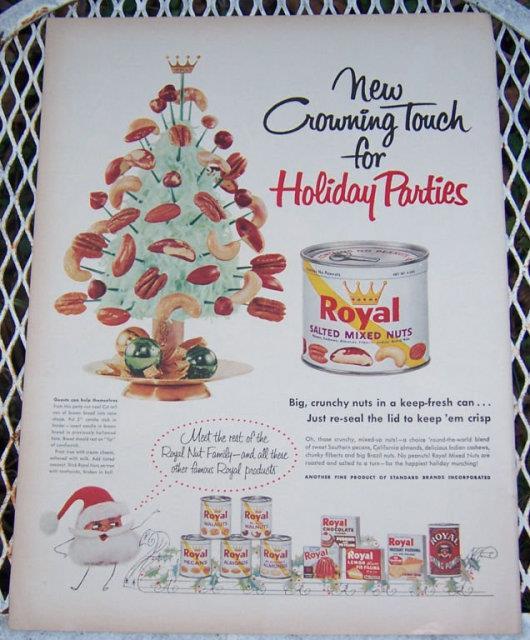1956 ROYAL NUTS LIFE MAGAZINE CHRISTMAS ADVERTISEMENT, Advertisement