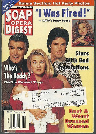 SOAP OPERA DIGEST JANUARY 19, 1993, Soap Opera Digest