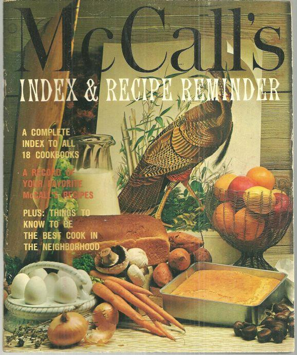 Image for MCCALL'S INDEX AND RECIPE REMINDER A Complete Index to all 18 Cookbooks