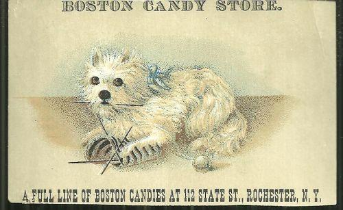 Image for VICTORIAN TRADE CARD FOR BOSTON CANDY STORE