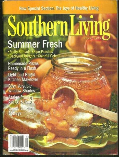 SOUTHERN LIVING MAGAZINE JUNE 2003, Southern Living