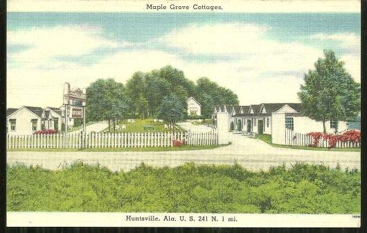 MAPLE GROVE COTTAGES, HUNTSVILLE, ALABAMA, Postcard