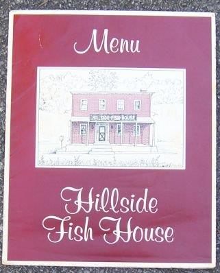 Image for VINTAGE MENU FOR HILLSIDE FISH HOUSE, FOUNTAIN CITY, WISCONSIN