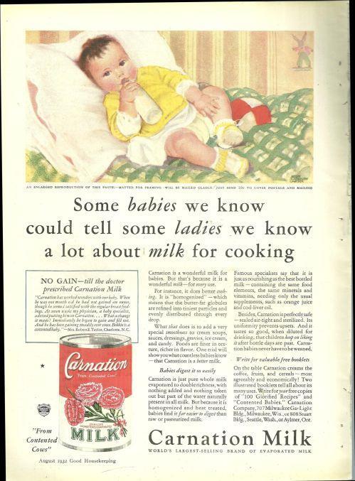 ADVERTISEMENT - 1932 Good Housekeeping Carnation Milk Magazine Advertisement