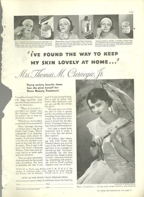 Image for 1932 GOOD HOUSEKEEPING POND'S COLD CREAM MAGAZINE ADVERTISEMENT