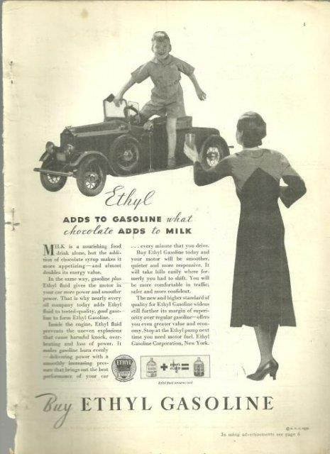 1932 GOOD HOUSEKEEPING MAGAZINE ADVERTISEMENT FOR ETHYL GASOLINE, Advertisement