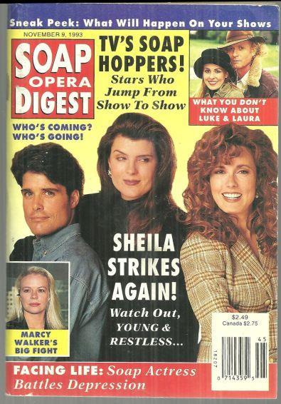 SOAP OPERA DIGEST NOVEMBER 9, 1993, Soap Opera Digest