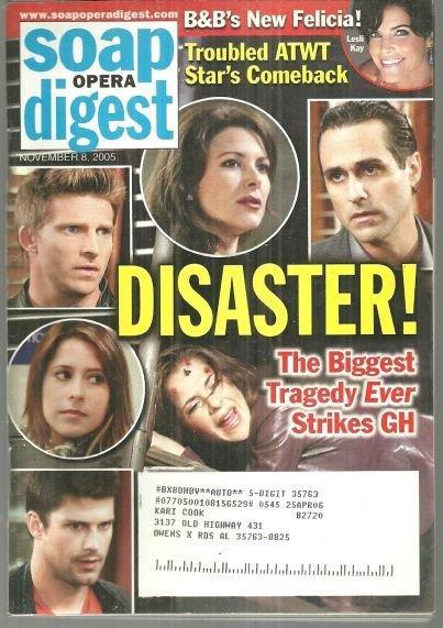 SOAP OPERA DIGEST NOVEMBER 8, 2005, Soap Opera Digest