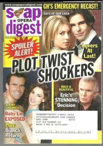 SOAP OPERA DIGEST NOVEMBER 29, 2005, Soap Opera Digest