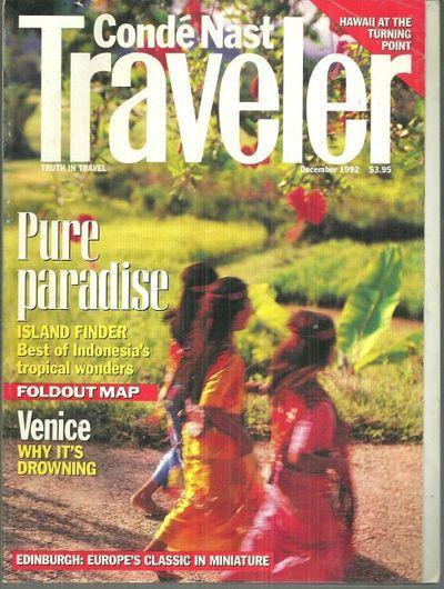 CONDE NAST TRAVELER MAGAZINE DECEMBER 1992, Conde Nast