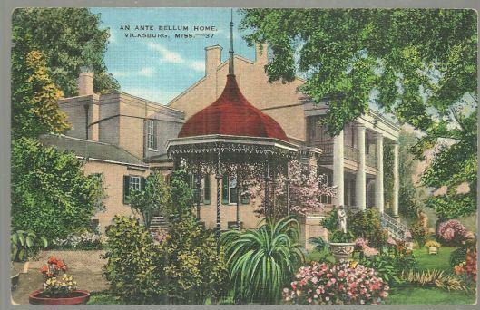 ANTE BELLUM HOME, VICKSBURG, MISSISSIPPI, Postcard