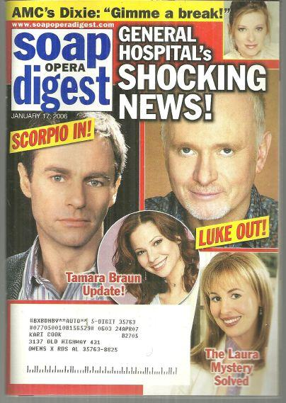 SOAP OPERA DIGEST JANUARY 17, 2006, Soap Opera Digest