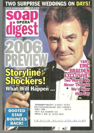 SOAP OPERA DIGEST JANUARY 3, 2006, Soap Opera Digest