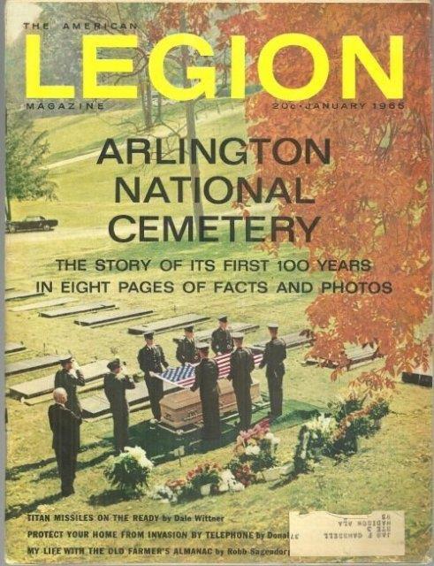 Image for AMERICAN LEGION MAGAZINE JANUARY 1966