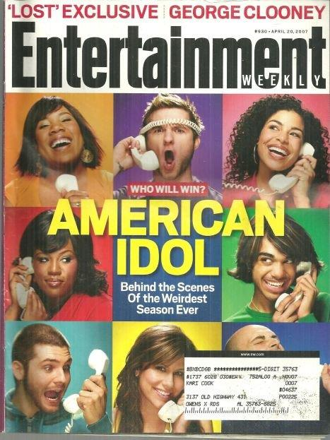 Image for ENTERTAINMENT WEEKLY MAGAZINE APRIL 20, 2007