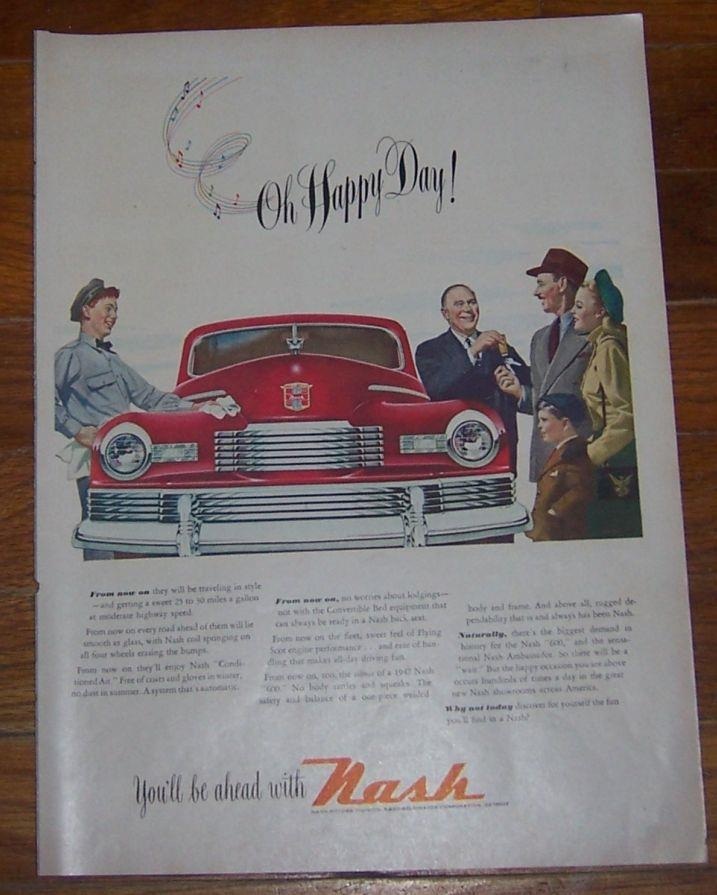 1947 NASH 600 AUTOMOBILE LIFE MAGAZINE ADVERTISEMENT, Advertisement