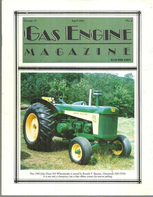 Image for GAS ENGINE MAGAZINE APRIL 1987