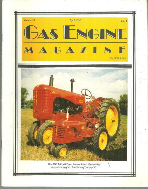 Image for GAS ENGINE MAGAZINE APRIL 1992