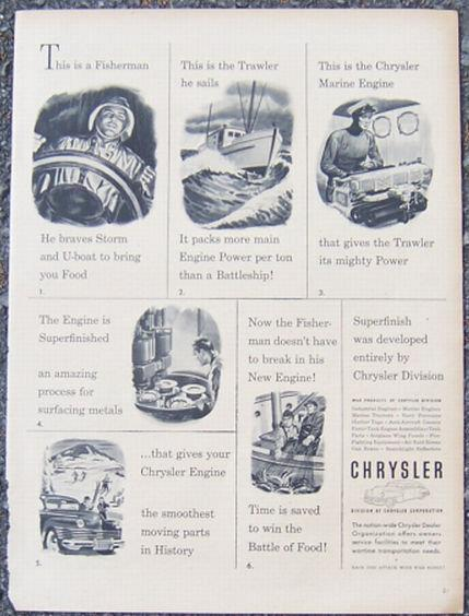 Image for 1944 CHRYSLER WORLD WAR II LIFE MAGAZINE ADVERTISEMENT