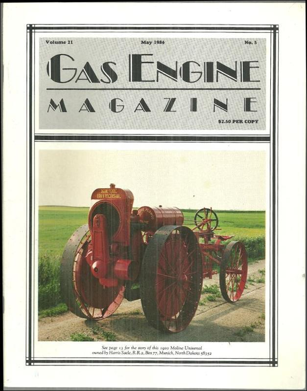 Image for GAS ENGINE MAGAZINE MAY 1986