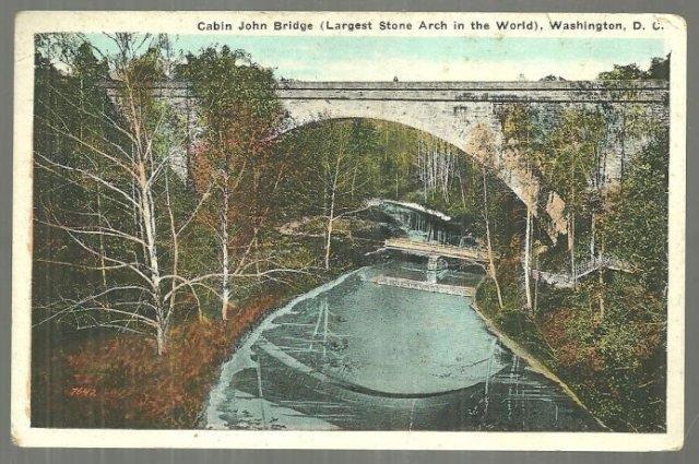 CABIN JOHN BRIDGE, WASHINGTON D.C., Postcard