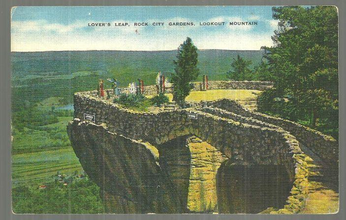 LOVER'S LEAP, ROCK CITY GARDENS, LOOKOUT MOUTAIN, TENNESSEE, Postcard