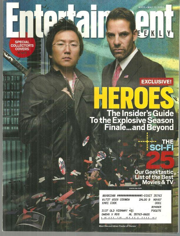 Image for ENTERTAINMENT WEEKLY MAGAZINE MAY 11, 2007