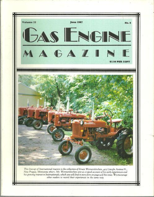 Image for GAS ENGINE MAGAZINE JUNE 1987