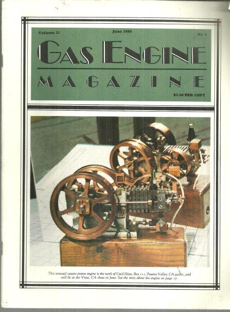 Image for GAS ENGINE MAGAZINE JUNE 1986