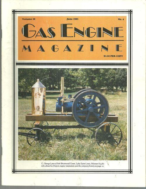 Image for GAS ENGINE MAGAZINE JUNE 1985
