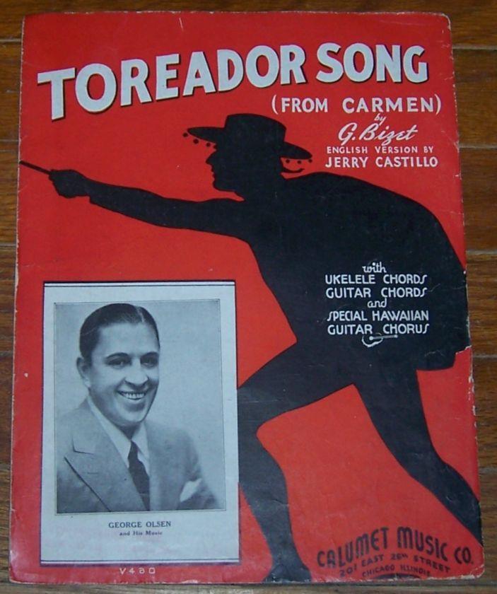 TOREADOR SONG FROM CARMEN, Sheet Music