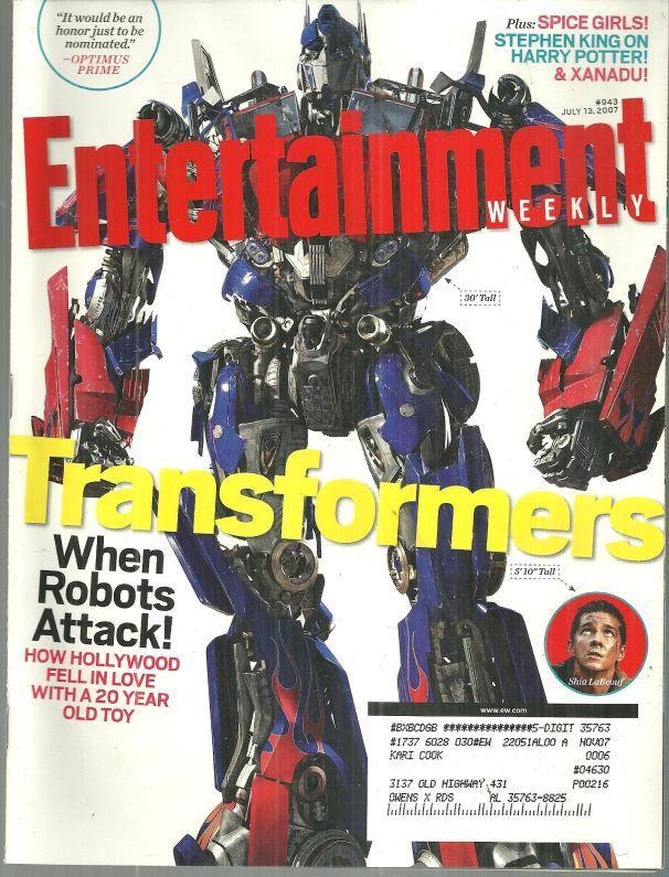 Image for ENTERTAINMENT WEEKLY MAGAZINE JULY 13, 2007