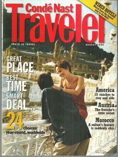 CONDE NAST TRAVELER MAGAZINE AUGUST 1999, Conde Nast
