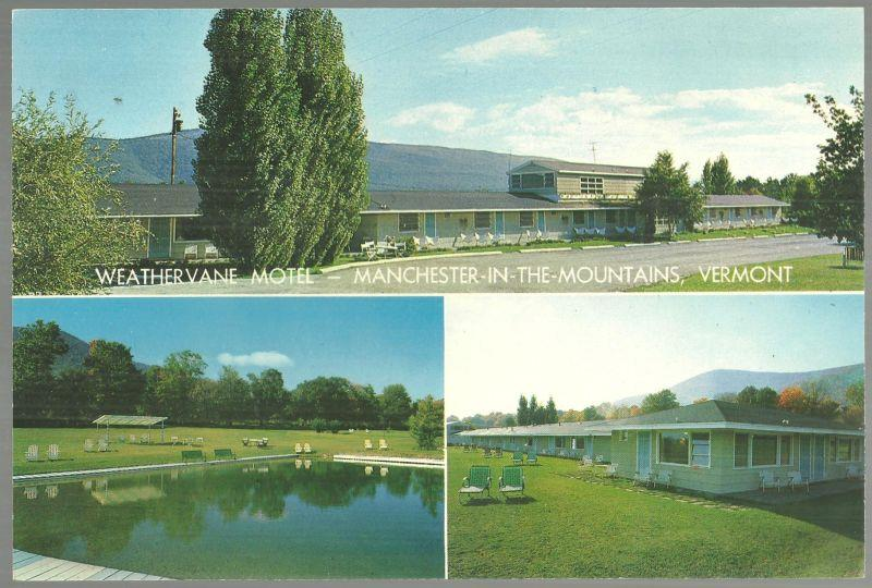 GIANT POSTCARD OF WEATHERVANE MOTEL-MANCHESTER IN THE MOUNTAINS, VERMONT, Postcard