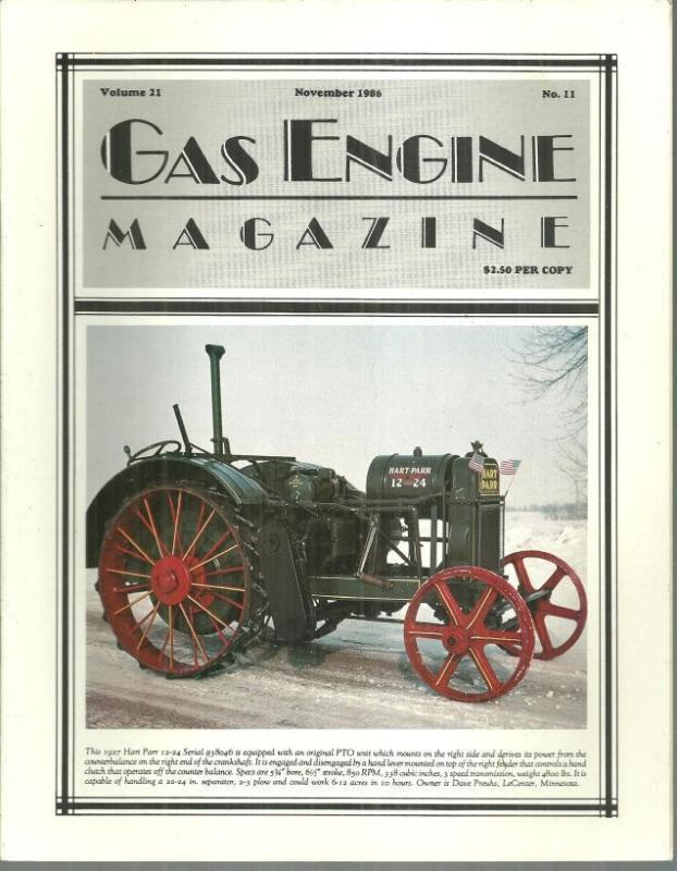 Image for GAS ENGINE MAGAZINE NOVEMBER 1986