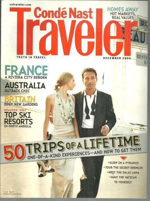CONDE NAST TRAVELER MAGAZINE DECEMBER 2005, Conde Nast