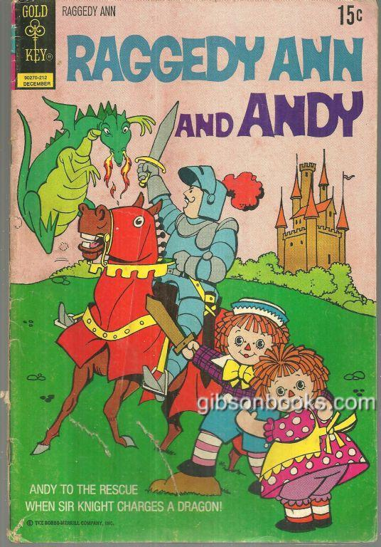 Image for RAGGEDY ANN AND RAGGEDY ANDY COMIC BOOK Andy to the Rescue when Sir Knight Charges a Dragon December 1972