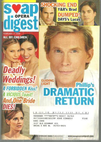 SOAP OPERA DIGEST FEBRUARY 17, 2009, Soap Opera Digest