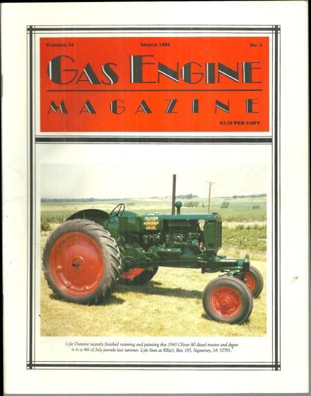 Image for GAS ENGINE MAGAZINE MARCH 1989
