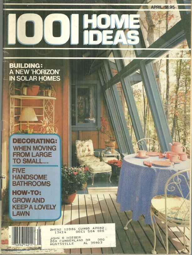 1001 HOME IDEAS MAGAZINE APRIL 1982, Family Media