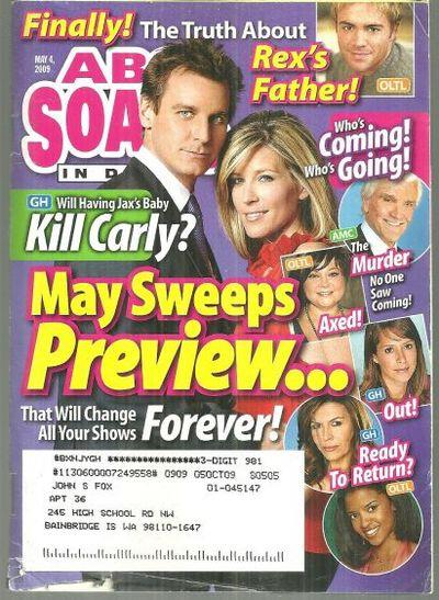 Image for ABC SOAPS IN DEPTH MAGAZINE MAY 4, 2009