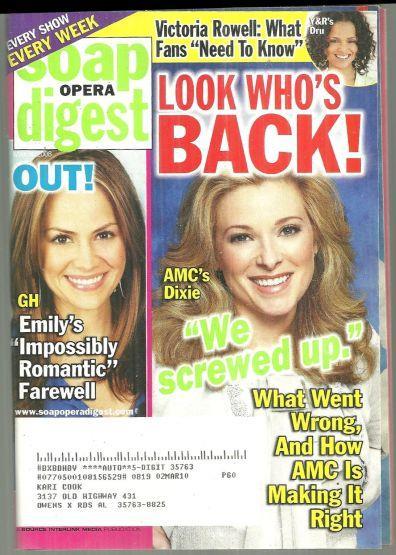 SOAP OPERA DIGEST MAY 6, 2008, Soap Opera Digest