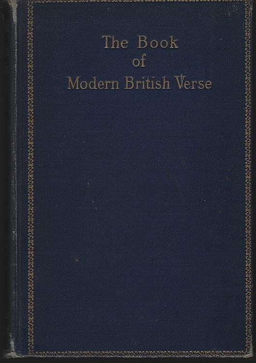 BOOK OF MODERN BRITISH VERSE, Braithwaite, William Stanley editor
