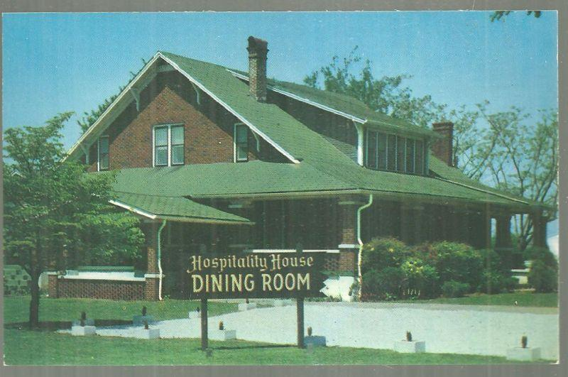 HOSPITALITY HOUSE DINING ROOM, HUNTSVILLE, ALABAMA, Postcard